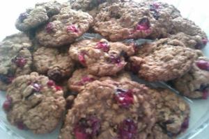 Old fashioned cranberry oatmeal cookies